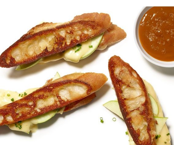 Apple Grilled Cheese With Savory Caramel