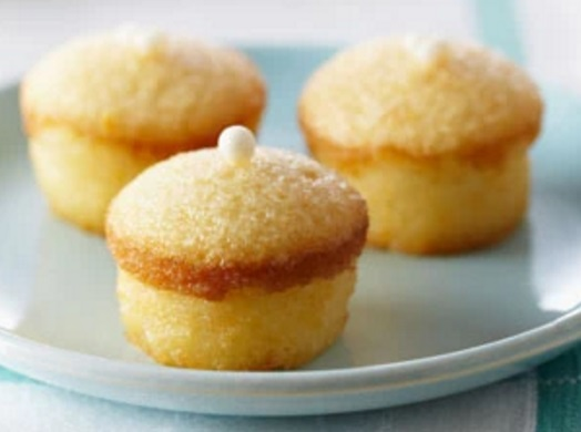 Mini Glazed Lemon Chiffon Cakes