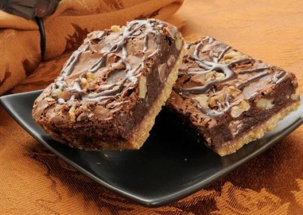 Nutty Fudge Shortbread