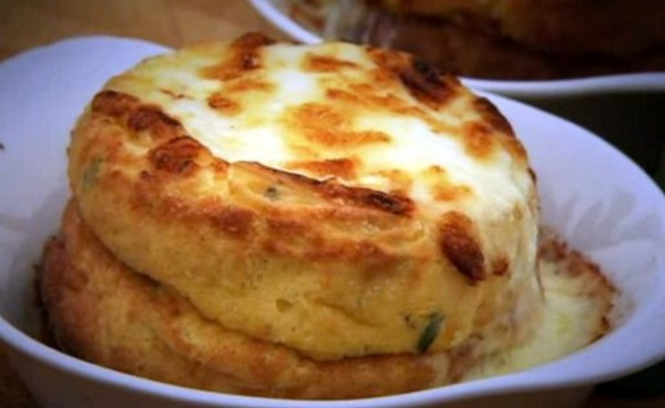 Double Baked Cheese Souffle