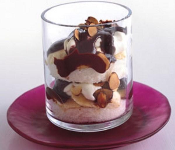 Chocolate, Almond, and Banana Parfaits