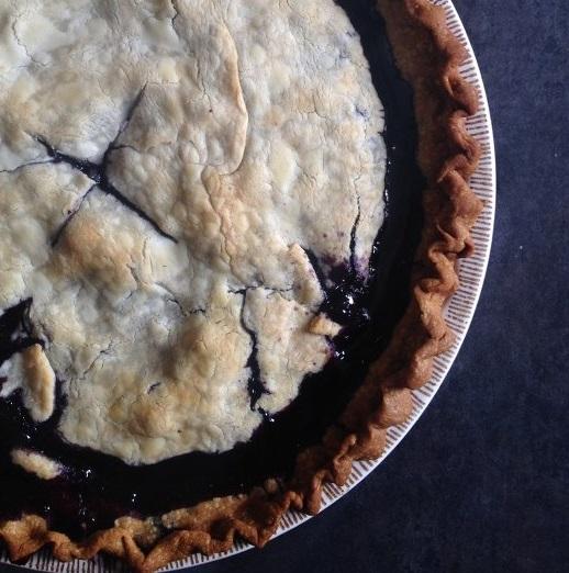 Chocolate & Blueberry Pie