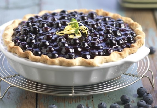 Blueberry Pie with Lemon Pastry