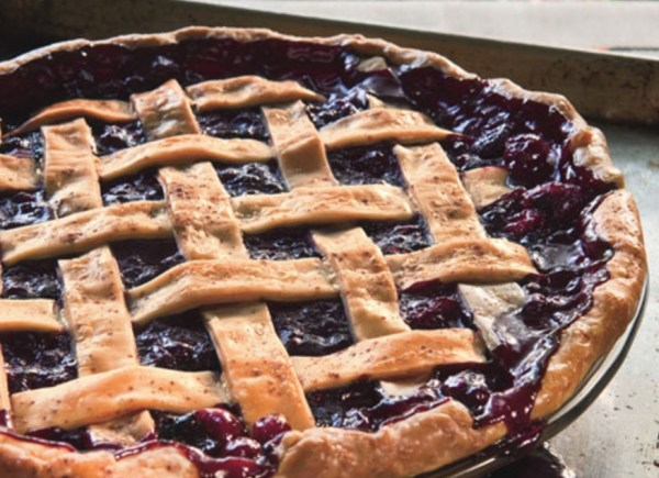 Cranberry and Blueberry Pie