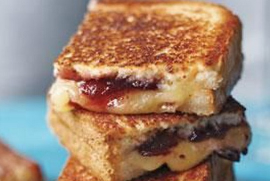 Cheese & Jam Grilled Toastie