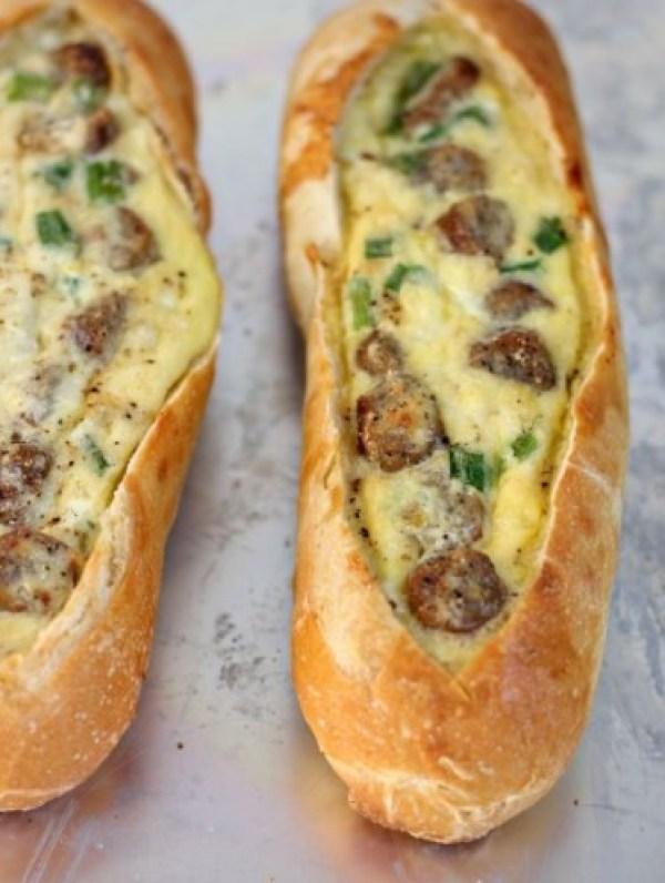 Breakfast Sausage Egg Boats
