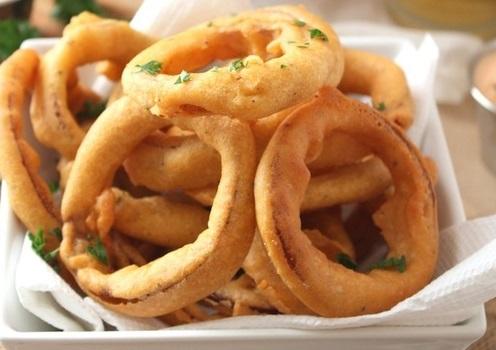 Crispy Chickpea Onion Rings