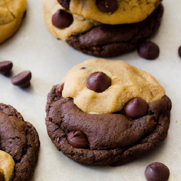 Chocolate Swirl Peanut Butter Cookies