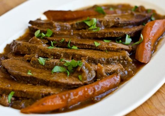 Onion-Braised Beef Brisket