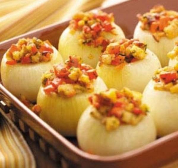 Vegetable-Stuffed Onions