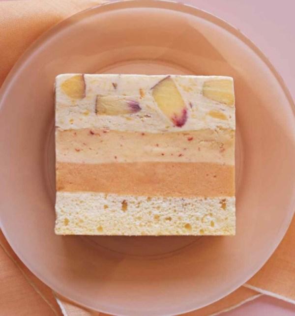 Peaches-and-Cream Ice Cream Cake
