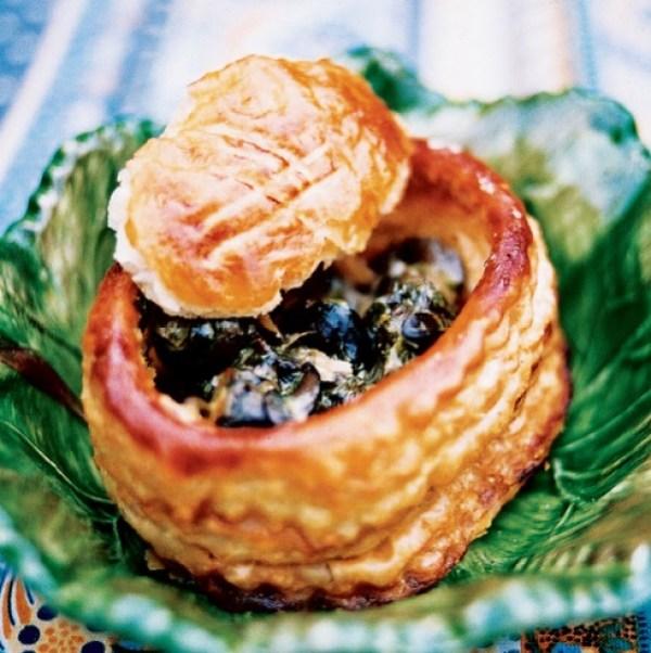 Escargots in Herbed Cream