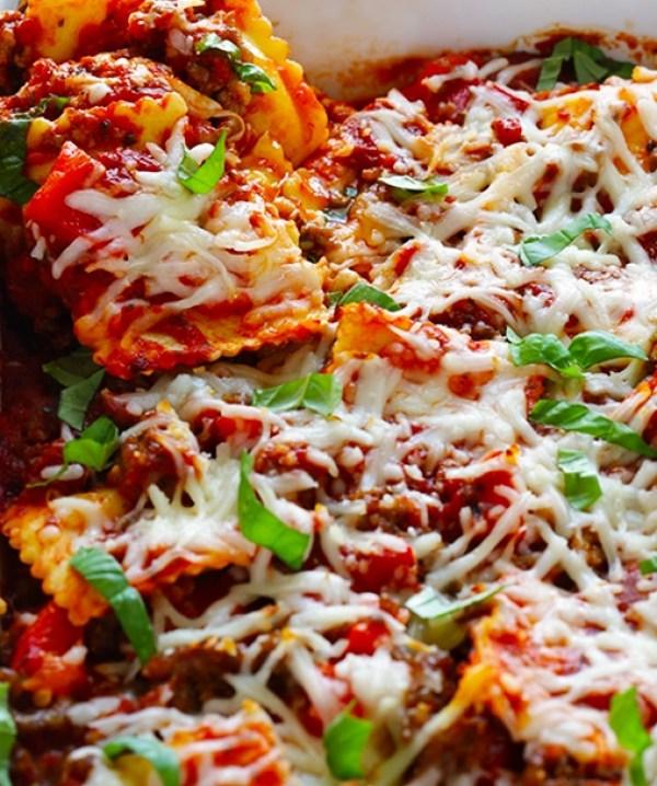 The Worlds Easiest Ravioli Lasagna