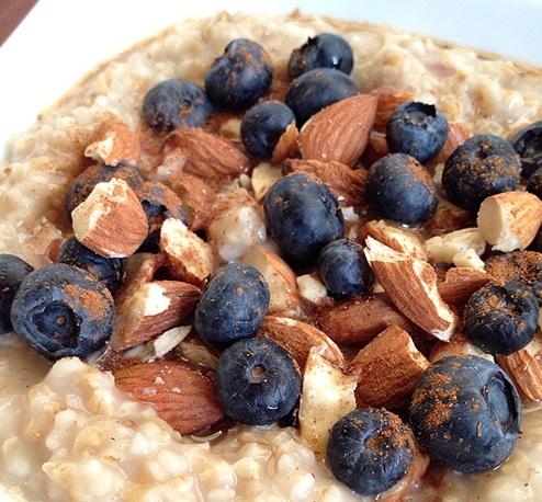 Blueberry Almond Butter Crunch Steel Cut Oats