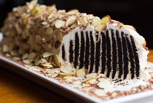Almond Covered Chocolate Wafer Log