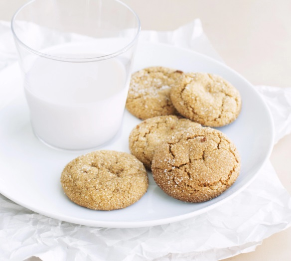 Chickpea Gingersnap Biscuits