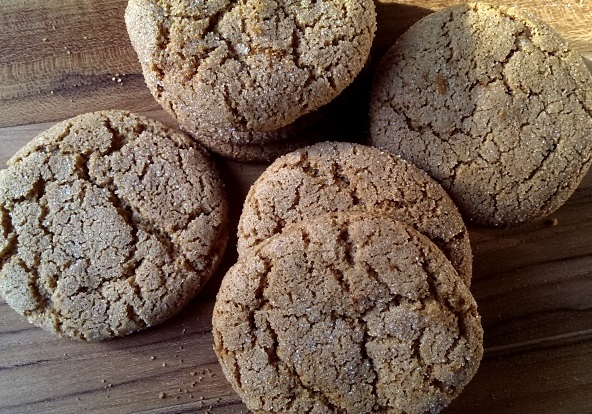 Apple Molasses Gingersnap Biscuits