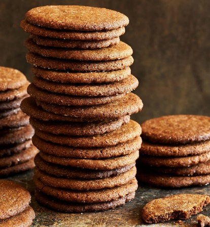 Bacon Fat Gingersnap Biscuits
