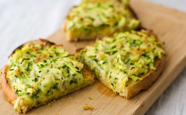 Zucchini Cheese On Toast