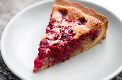 Raspberry & Walnut Tart