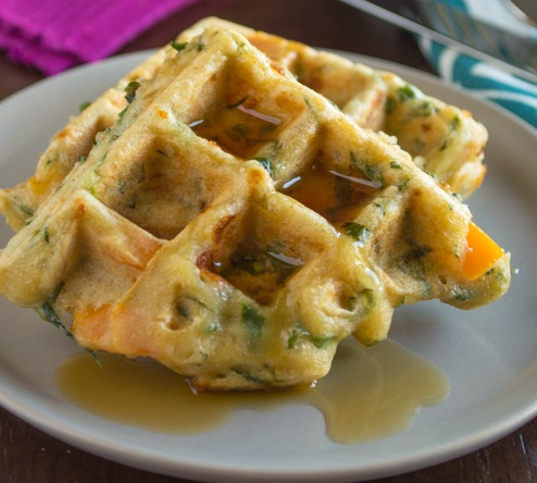 Savoury Vegetable Waffles