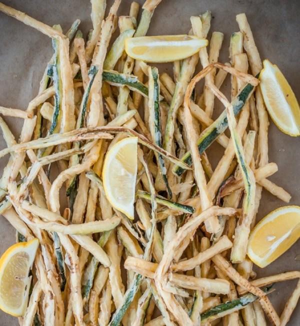 Zucchini & Lemon Julienne Fries
