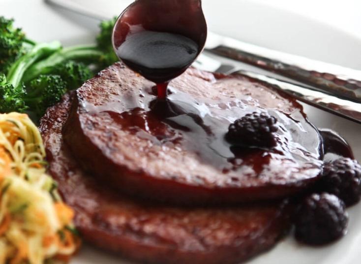 Ham with a Blackberry & Rum Glaze