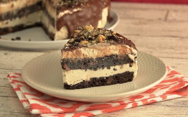 Crushed Biscotti And Coffee Ice Cream Cake