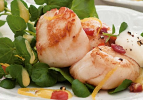 Pan-fried Scallops With Crisp Pancetta