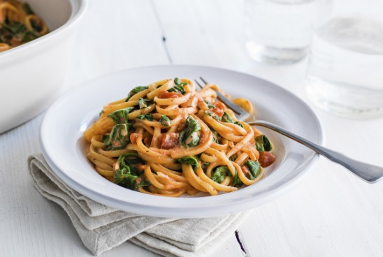 One-pot Tomato and Mascarpone Linguine