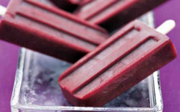 Classic Blueberry Popsicles