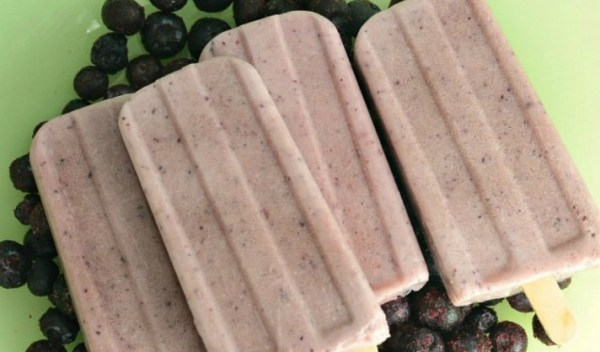 Blueberry Chia Popsicles