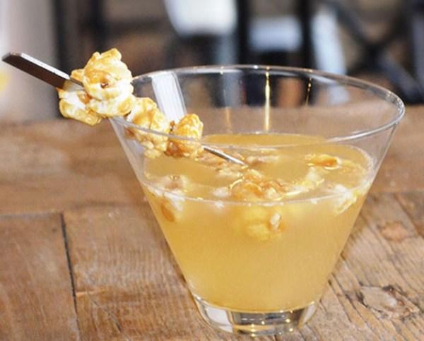 Salted Caramel Popcorn Martini