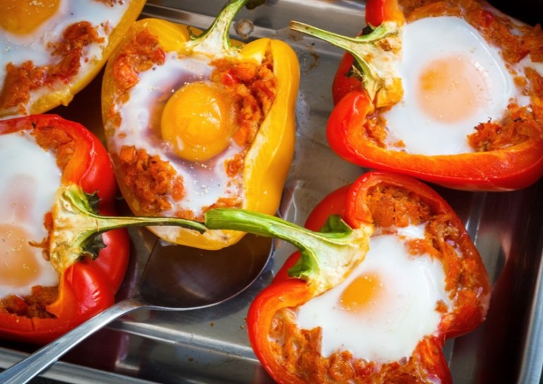 Egg Filled Peppers