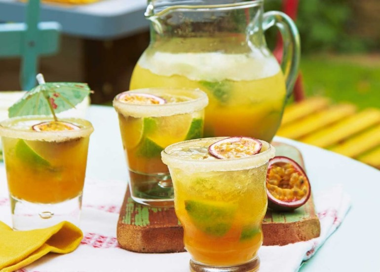 Passion Fruit and Lime Caipivodkas