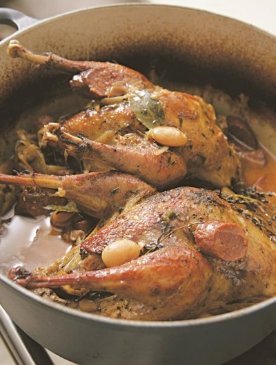 Pot-Roast Pheasant With Chorizo, Butter Beans and Parsley