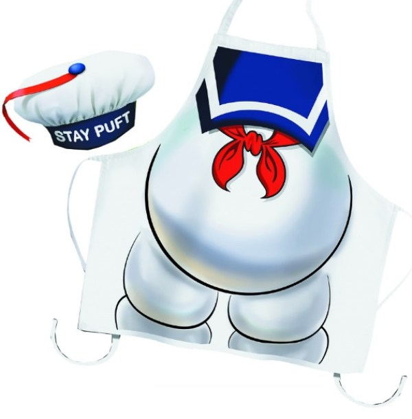 Ghostbusters Stay Puft Novelty Apron and Chef's Hat Set