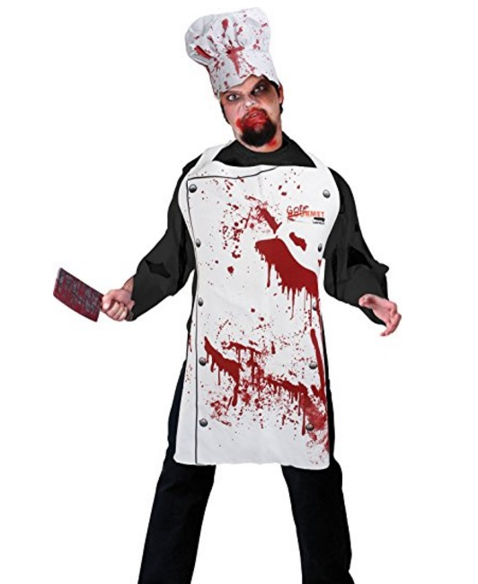 """Zombie Chef"" Novelty Apron and Chef's Hat Set"