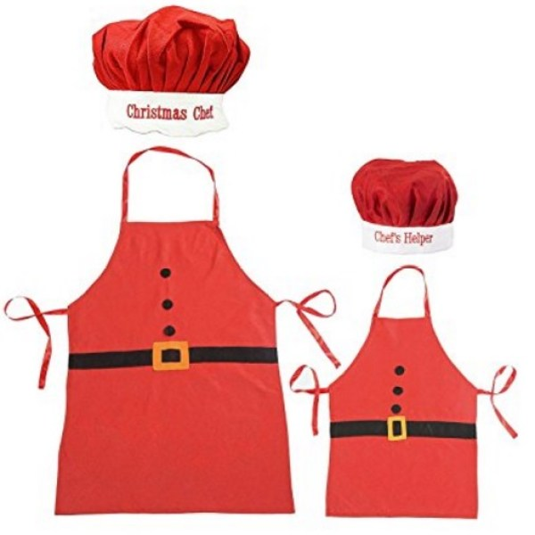 """""""Christmas Chef"""" Novelty Apron and Chef's Hat Set"""