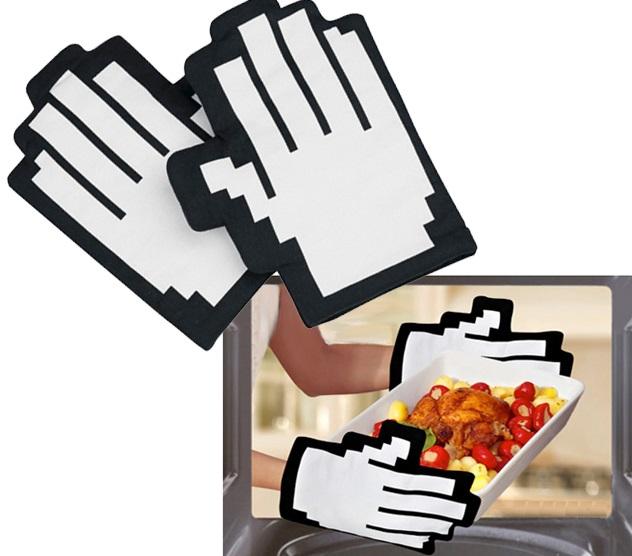 Pixel Oven Gloves