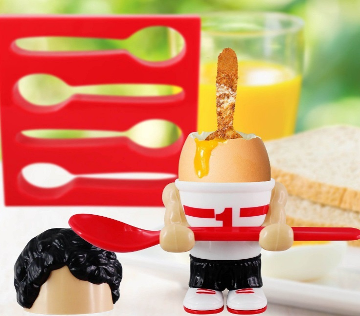Athletic Egg Cup And Toast Cutter
