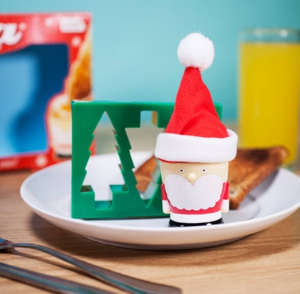 Santa Egg Cup And Toast Cutter