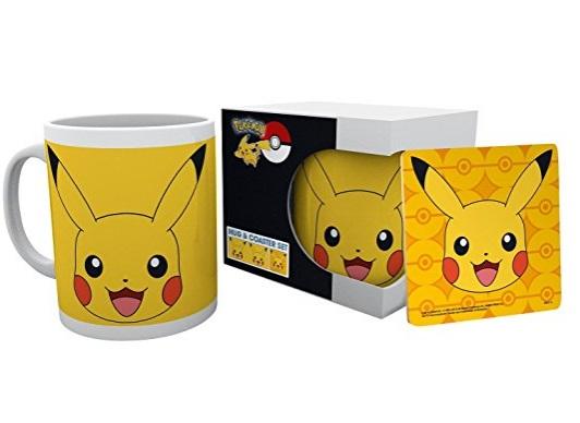 Pikachu Coaster & Mug Set