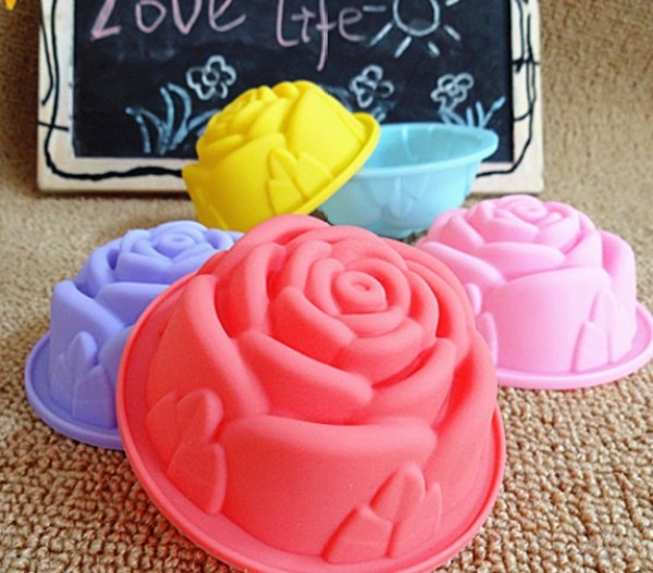 Rose Shape Baking Cups