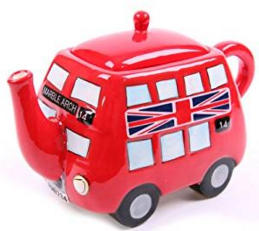 Red Double Decker Bus Teapot