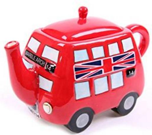 Red Double Decker Bus Teapot