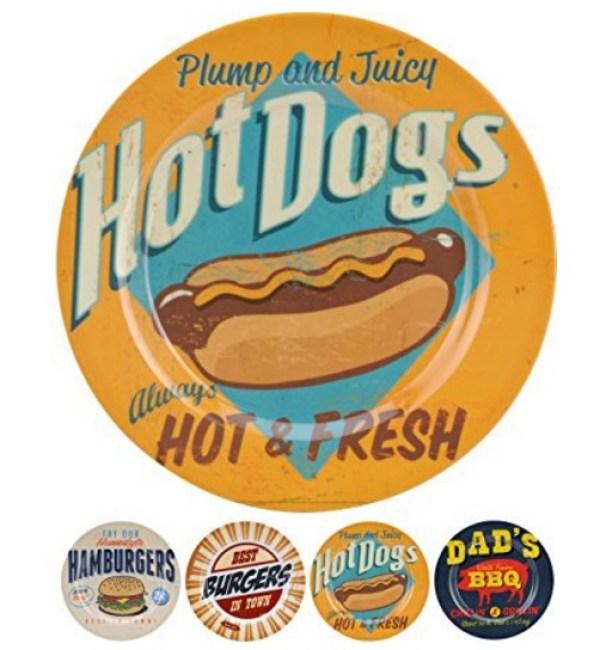 Vintage Burger Packaging Design Plates