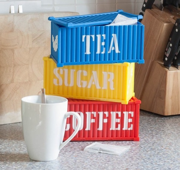 Cargo Containers Coffee, Tea & Sugar Canisters