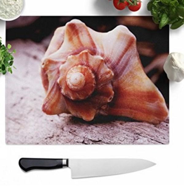 Seashell Glass Chopping Board