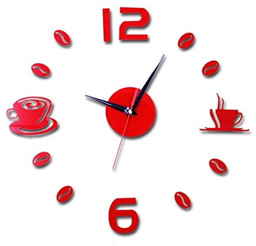 Acrylic Coffee Time Kitchen Wall Clock